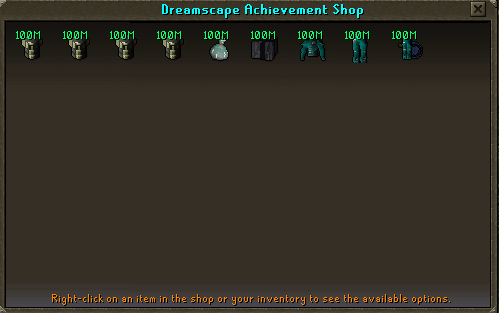 Achievement Point Shop