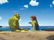 Shrek na plaży