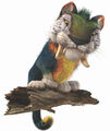 Macawnivore perched on a trunk
