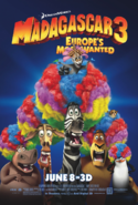 Madagascar 3 Europes Most Wanted Poster with Julien's Crown