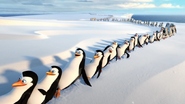 Penguins of Madagascar - Penguins falling from the line