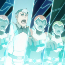 Shiro and Paladins in the final battle.png