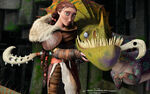 Valka and other dragon poster