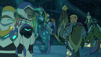 Lance, Plaxum, Swirn, Blumfump, Luxia and Hunk (After Baku's Defeat)