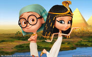 Mr. Peabody and Sherman Sherman and Penny Peterson dressed in Egypt d6xlj6r