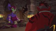 Lady Falgha speaks to Aven