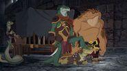 Killara, Skink and Nogo in Lord Darkan's palace