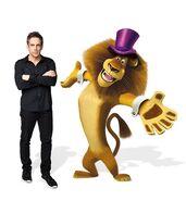Ben Stiller with Alex in circus