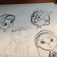 Mr. Peabody and Sherman Sherman and Penny Peterson drawings