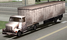 A Shot Of The Removed Semi-Truck As It Appears In The Driver 2 PAL Version Which Was Apparently Replaced By The Armored Car In The Final Release.png