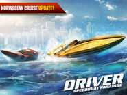 Driver speedboat Paradise art Norwegian cruise update