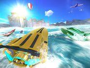 Driver speedboat Paradise art
