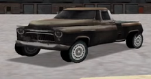 A Screenshot Showing The Rather Buggy Early Version Of The Old Pickup - Notice The Body Is Incorrectly Scaled Over The Chassis.png