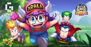 Arale Adventure promotional art-cast