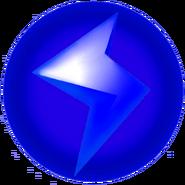 Blue Lightning Bolt - Mario Kart Wii