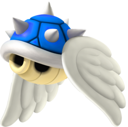Flying Blue Shell - Mario Kart Wii.png