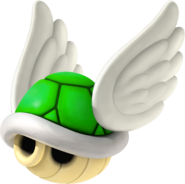 Winged Green Shell - Mario Kart Wii