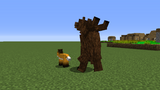 Bear attacking fox