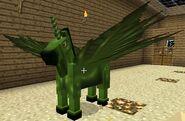 Green fairy horse