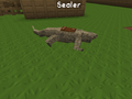 Komodo dragon sitting