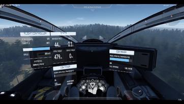 A cockpit-widget that displays basic flight informations