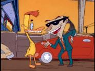 Art tells Duckman he's booked him
