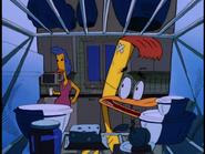Duckman speaking to Bev