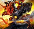 Flaming Jet Dragon artwork