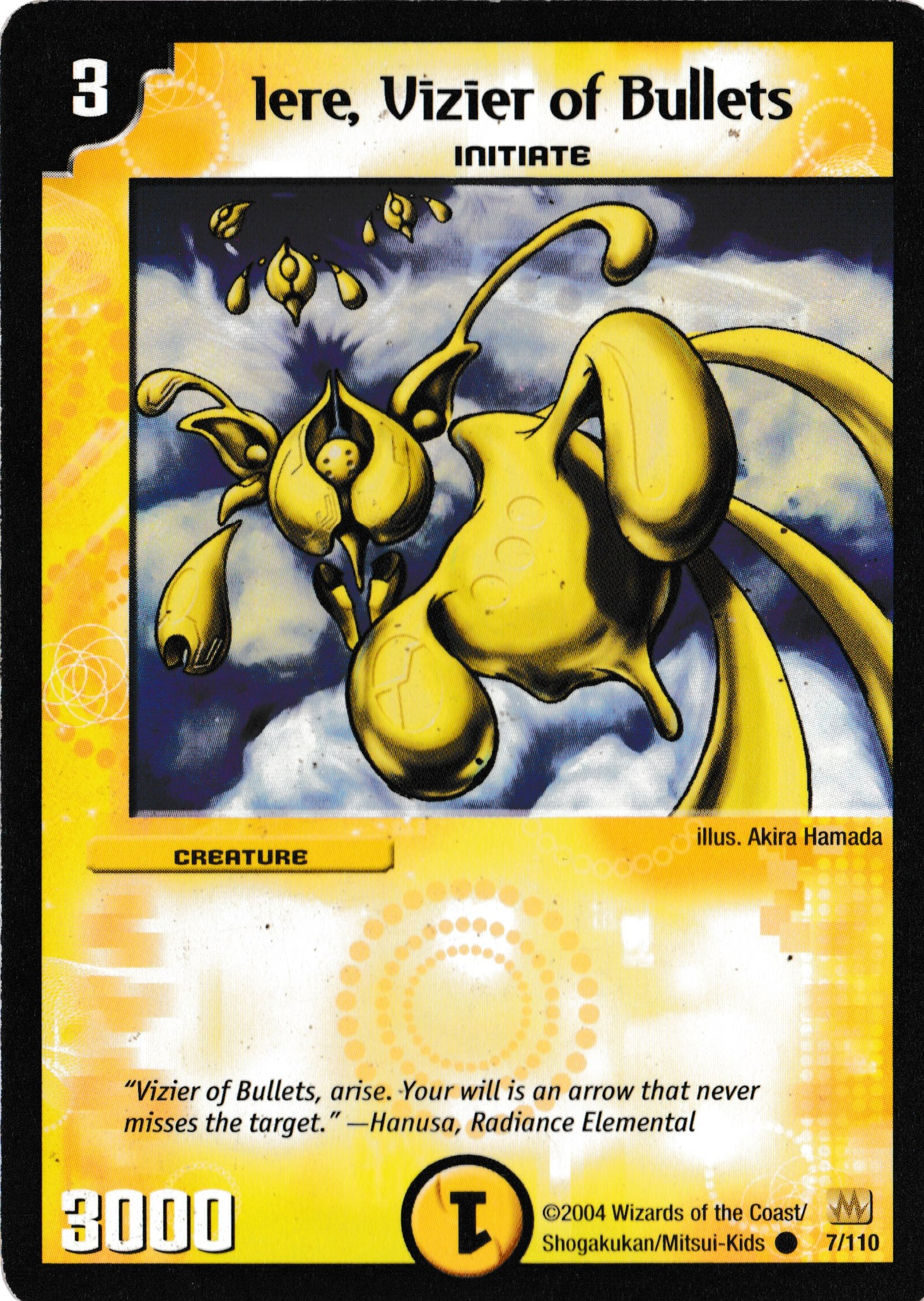 DM-01 Radiance Elemental Hanusa Excellent English Duel Masters Card