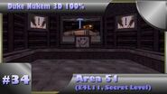 Duke Nukem 3D 100% Walkthrough- Area 51 (E4L11) -Secret Level, All Secrets-