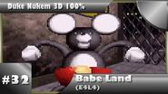 Duke Nukem 3D 100% Walkthrough- Babe Land (E4L4) -All Secrets-