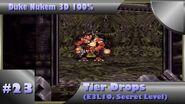 Duke Nukem 3D 100% Walkthrough- Tier Drops (E3L10) -Secret Level, All Secrets-