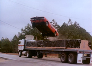 """General Lee jumping over a semi in episode """"High Octane"""""""