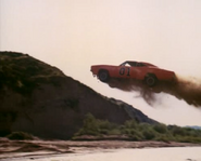 General Lee jumping over a river.