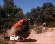 General Lee jumping over a state trooper patrol car