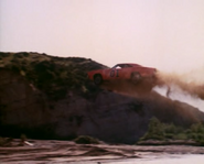 General Lee jumping over a river