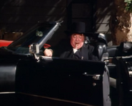 Abraham Lincoln Hogg in his black limo