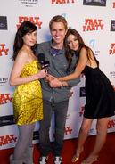 Samantha Gutstadt2C Randy Wayne2C Caroline D Amore2C Frat Party Film Premiere