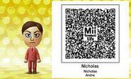 Nicholas Andre Mii Tomodachi life QR