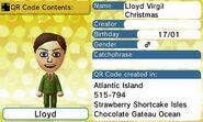 Lloyd Virgil Christmas QR Code Contents