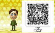 Lloyd Virgil Christmas Mii Tomodachi Life QR