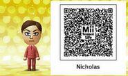 Mii Tomodachi Life QR Nicholas Andre