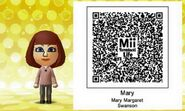 Mary Margaret Swanson Mii Tomodachi Life QR