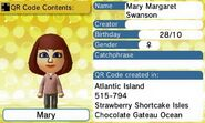 Mary QR Code Contents