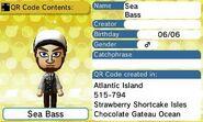 Sea Bass QR Code Contents Tomodachi