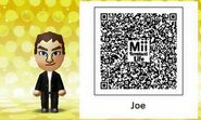 Mii Tomodachi Life QR Joe Mentalino