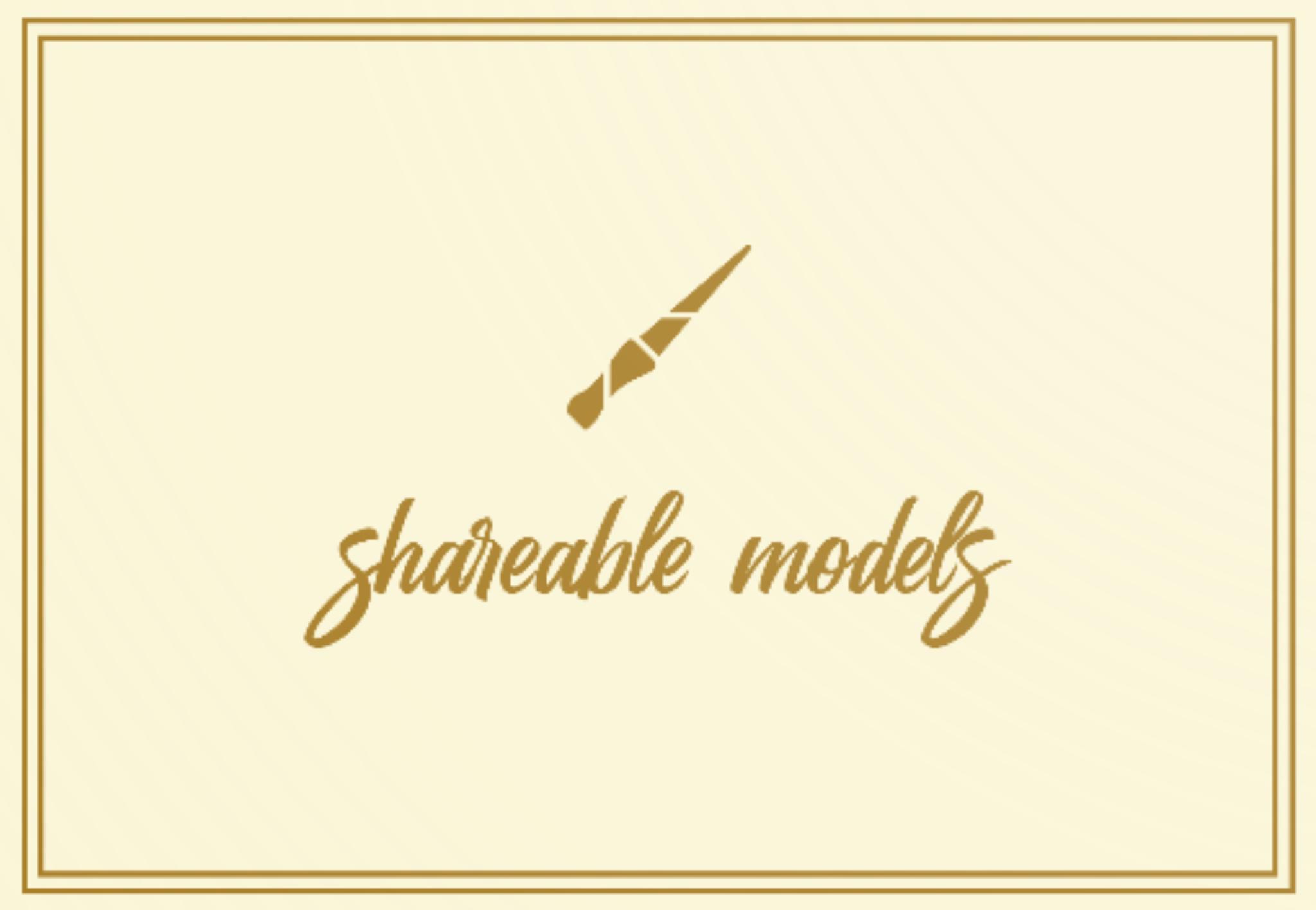User Model Registration/Shareable Models