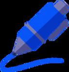 DWtDraw Blue Pen
