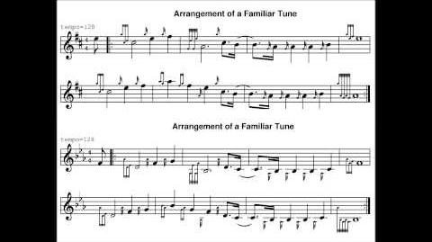 Arrangement of a familiar tune