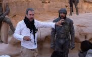 Dune 2020 BTS Denis Villeneuve and Javier Bardem